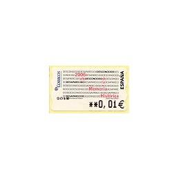 ESPAÑA (2007). 132. Memoria Histórica (2). 5A. ATM nuevo (0,01)