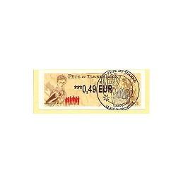 FRANCE (2007). Fête timbre - LISA 2. ATM, matasello P.D. (Aix)