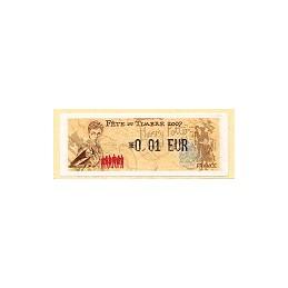 FRANCE (2007). Fête timbre - LISA 1. ATM nuevo (0,01)