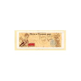 FRANCE (2007).  Fête timbre - LISA 1. Etiqueta en blanco