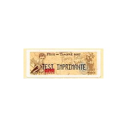FRANCE (2007). Fête timbre - LISA 1. Etiqueta test