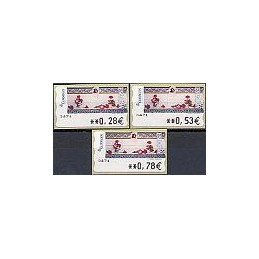 ESPAÑA. 115. J. Carrero. Tarjeta postal. 5A. Serie 3 val.