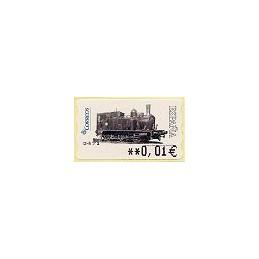 ESPAÑA. 117. Locomotora 1887. 5A. ATM nuevo (0,01)