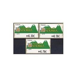 ANDORRA. Montañas verdes- 2. EUR-5E-1274. Serie 3 val. (2007)
