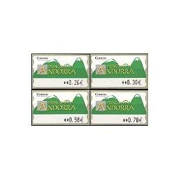 ANDORRA (2007). Montañas verdes- 5. LF-5E. Serie 4 val.