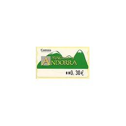 ANDORRA (2007). Montañas verdes- 5. LF-5E. ATM nuevo (0,30)