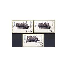ESPAÑA. 117. Locomotora 1887. 4E. Serie 3 val.