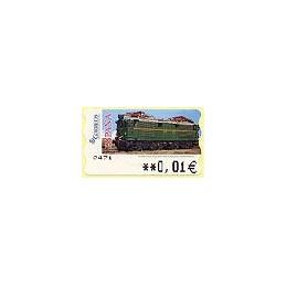 ESPAÑA. 128. Locomotora Estado. 5A. ATM nuevo (0,01)