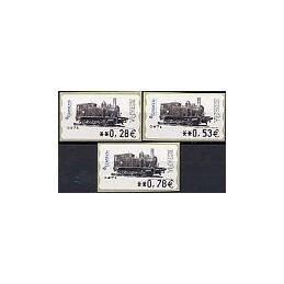 ESPAÑA. 117. Locomotora 1887. 5A. Serie 3 val.