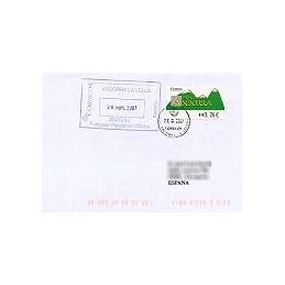ANDORRA (2007). Montañas verdes- 5. LF-5E. Sobre circulado (2)