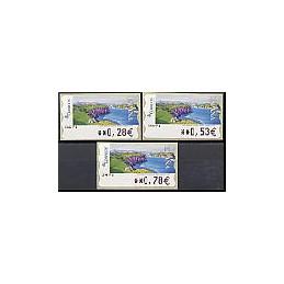 ESPAÑA. 123. Montilla: Ballenas de piedra. 5A. Serie 3 val.