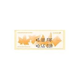 FRANCIA (2000). 54 Salon Phil. Automne. ATM nuevo (3,00-0,46)