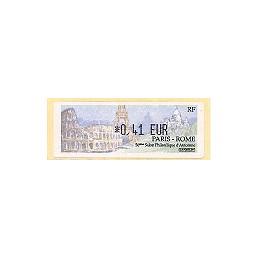FRANCIA (2002). Paris - Rome. ATM nuevo (0,41)