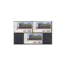 ESPAÑA. 128. Locomotora Estado. 5A. Serie 3 val.