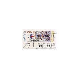 ESPAÑA. 84. Pinta el teu segell. 5A-3259. ATM usado (0,26)