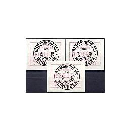 SWA (1988). Otyimbingue 100. Serie 3 val., matasello