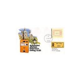 AUSTRIA (1983). Emblema postal. Sobre primer día, certificado (2