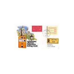AUSTRIA (1983). Emblema postal. Sobre primer día, expres