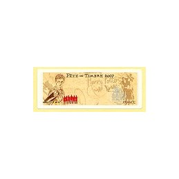 FRANCE (2007).  Fête timbre - LISA 2. Etiqueta en blanco
