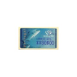 PORTUGAL (1998). EXPO 98 - Amiel $. ATM nuevo (C. AZUL)