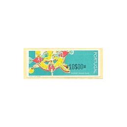PORTUGAL (1995). Galinhas (1). ATM nuevo (10$00)