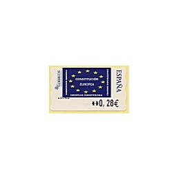 ESPAÑA. LF 10114. 114. Constitución Europea. ATM nuevo (0,28)