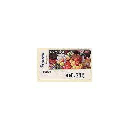 ESPAÑA. LF 10007. 95. Sammer G. Frutas. ATM nuevo (0,28)