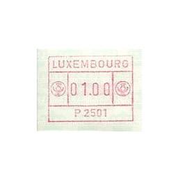 LUXEMBURGO (1983). Frama (1) - P 2501. ATM nuevo