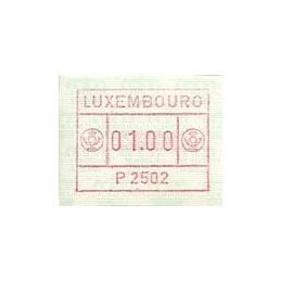 LUXEMBURGO (1983). Frama (1) - P 2502. ATM nuevo