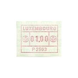 LUXEMBURGO (1983). Frama (1) - P 2503. ATM nuevo
