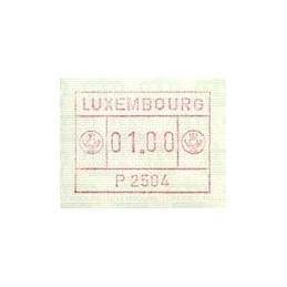 LUXEMBURGO (1983). Frama (1) - P 2504. ATM nuevo