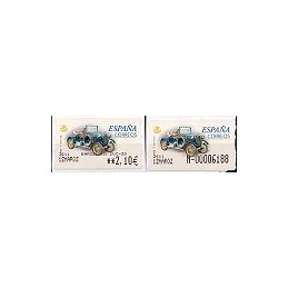 ESPAÑA. 63S. Humber T 1910. Etiqueta control EUR-E (N-) + sello