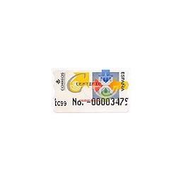 ESPAÑA. 31S. Calidad postal. Etiq. control A (No.-)