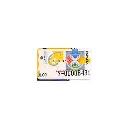 ESPAÑA. 31S. Calidad postal. Etiq. control A (N-)