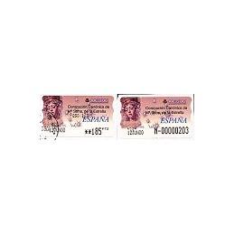 ESPAÑA. 34S. M. Stma. Estrella. Etiq. control PTS-E (N-) + sello
