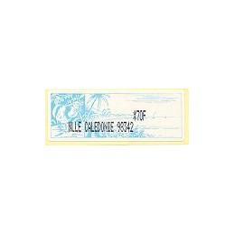 N. Caledonia (2003). NLLE CALEDONIE 98342 - negro. ATM nuevo