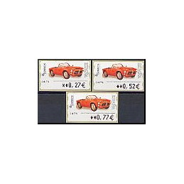 ESPAÑA. 110. Pegaso Z-102 SS P. 5A. Serie 3 val.