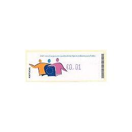 PORTUGAL (2007). Oportunidades - Crouzet Az. ATM nuevo (0,01)