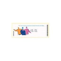 PORTUGAL (2007). Oportunidades - Crouzet n. ATM nuevo (0,01)