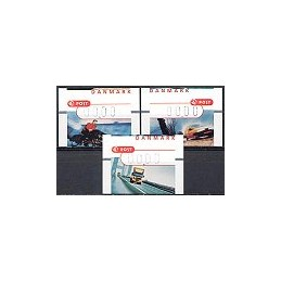 DINAMARCA (2002). Transporte del correo. 3 etiquetas, valor 0