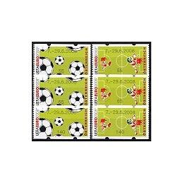 AUSTRIA (2008). 7.-29.6.2008 (UEFA EURO). Series 3 val. + rec.