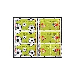 AUSTRIA (2008). 7.-29.6.2008 (UEFA EURO). Series 3 val. (nac.)