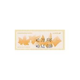FRANCIA (2000). 54 Salon Phil. Automne. ATM nuevo (2,70-0,41)