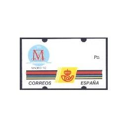 ESPAÑA. 6. MADRID 92. Etiqueta en blanco