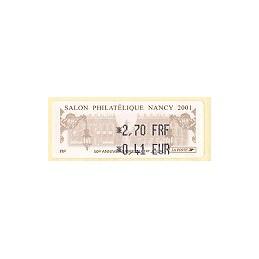 FRANCIA (2001). Salon Philatélique Nancy. ATM nuevo (2,70-0,41)