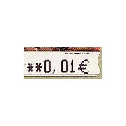 ESPAÑA. 109a. Red Life (2) - variante. 5A. ATM nuevo (0,01)