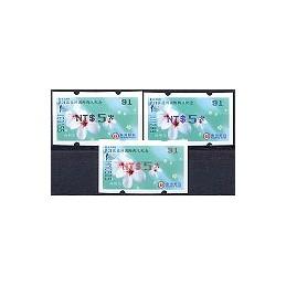 TAIWÁN (2008). TAIPEI 2008. ATMs nuevos ( 94)