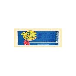 PORTUGAL (1996). Passarinho (2). ATM (C.A. 75$00 Feliz Natal)