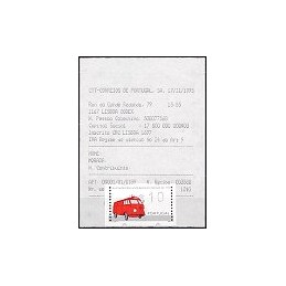 PORTUGAL (1995). Auto-ambulancia. ATM nuevo + rec. (Olivetti)