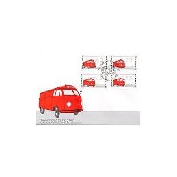 PORTUGAL (1995). Auto-ambulancia. Sobre primer día - serie